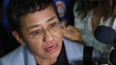 Maria Ressa, the award-winning head of a Philippine online news site Rappler.