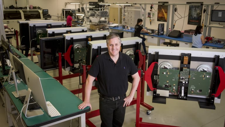 Blackmagic Design CEO Grant Petty at the company's Melbourne factory.