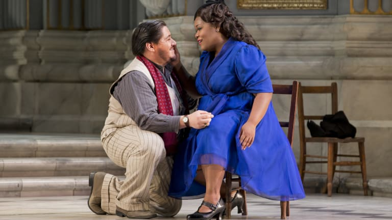 Reasons to return: Diego Torre and Latonia Moore in Tosca.
