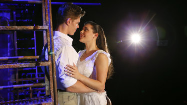 Odd couple: Todd Jacobsson and Sophie Salvesani in Opera Australia's West Side Story.