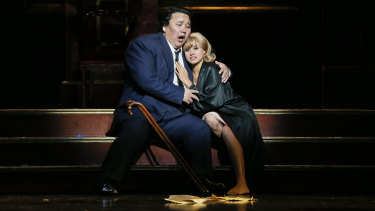 Astonishing debut: Amartuvshin Enkhbat, pictured here with Stacey Alleaume as Gilda.