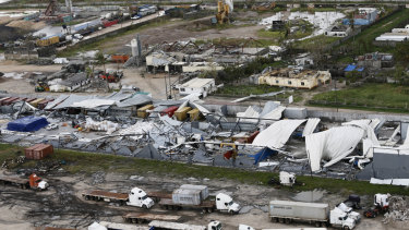 An aerial photo shows the devastation left by Tropical Cyclone Idai in Beira, Mozambique.
