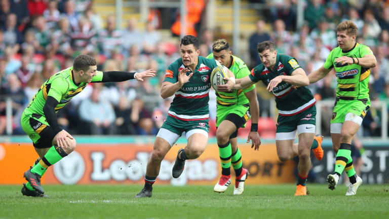 Running man: The Tigers average crowds of 23,000 in the Premiership at Welford Road.