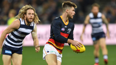 On the outer: Adelaide midfielder Bryce Gibbs is struggling to maintain a spot in the Crows senior line-up.