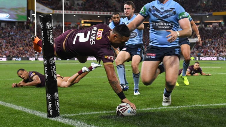 Superman: Valentine Holmes finishes spectacularly to tie it up at 12-12.