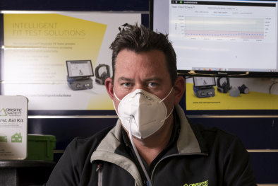 Director of Onsite Safety Australia, Chris Bellamy, who paid to have the masks tested.