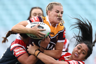 Ali Brigginshaw was crowned the Dally M female player of the year on Monday.