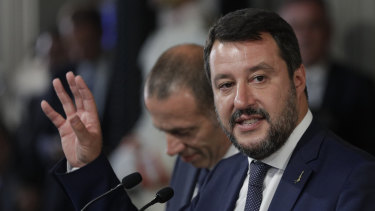 Sidelined: League Party leader Matteo Salvini.