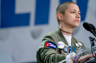 Emma Gonzalez survived the shooting at Marjory Stoneman Douglas High School, and is one of the faces of the 'March for our lives' campaign.