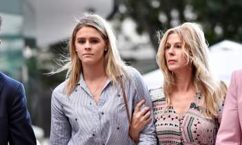 Shayna Jack, flanked by her mother Pauline, collapsed in tears after running the gauntlet of cameras ahead of her ASADA meeting in August.