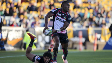 Linchpin: Tevita Kuridrani will be central to the Brumbies' hopes.