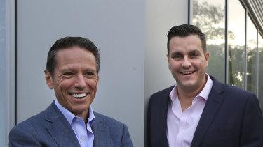 Noni B chairman Richard Facioni (left) and chief executive Scott Evans.