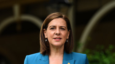 Queensland opposition leader Deb Frecklington is fending off an attack from within her own party.