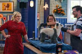 Heavy on the puns: Rebel Wilson as host of Seven's Pooch Perfect.