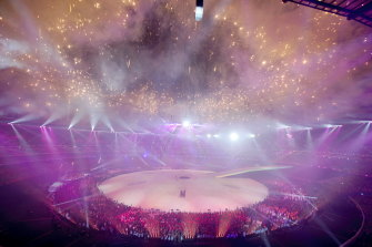 Opening ceremony of Commonwealth Games 2006 at Melbourne Cricket Ground.