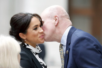 The kiss on the cheek greeting isn't recommended right now.