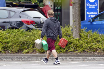 UK Transport Minister Grant Schapp said the shortages were purely due to panic-buying.
