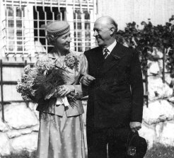 Gundula and Commander Norman Holbrook, VC, at Heidehaus, Austria, in 1953.