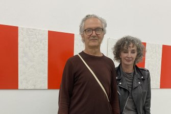 Artist John Nixon and gallerist Anna Schwartz earlier this year.