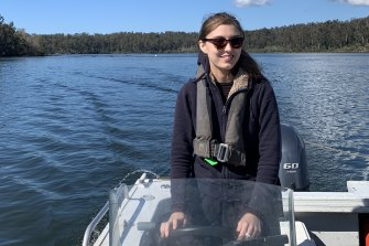 UTS research student Raissa Gill on her field trip.