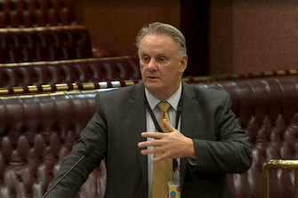 Contentious: Mark Latham does not expect a vote on his education bill until 2021.
