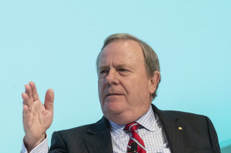 Future Fund chairman Peter Costello warned of potential global setbacks.