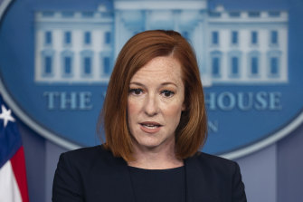 White House press secretary Jen Psaki could not say where the Afghans would be settled when they arrived.