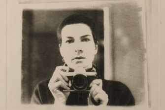 Self portrait - 1/60th of a second, 1981 by Anne Newmarch.