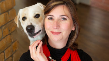Incoming RSPCA ACT CEO Michelle Robertson with her rescue dog Bowie.