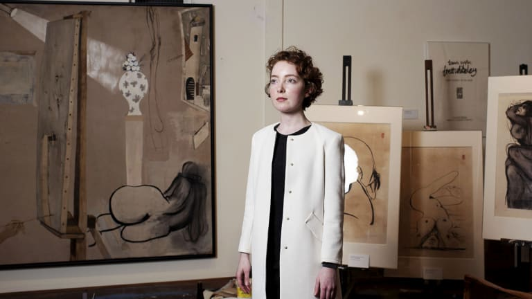 Natasha Walsh in Brett Whiteley's studio.