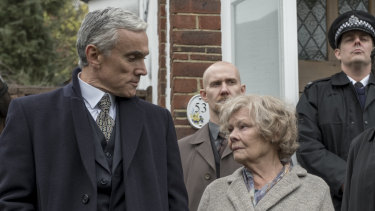 Judi Dench with Ben Miles, who plays her son, Nick, in Red Joan.
