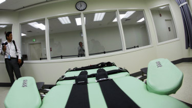 The interior of San Quentin State Prison's lethal injection facility, which is to be closed.
