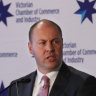Federal Treasurer Josh Frydenberg is seen delivering a speech in Melbourne, Monday, August 19, 2019. Treasurer Josh Frydenberg has vowed to overhaul the financial services sector by the end of next year, in the hope of rebuilding consumer confidence after a scathing review of the industry. (AAP Image/David Crosling) NO ARCHIVING