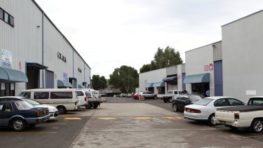 The industrial complex in Thornleigh where Levick ran his one-man business, ICM Components.