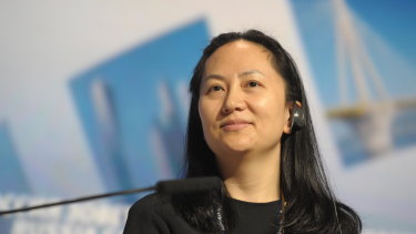 Huawei executive Meng Wanzhou at a technology forum in Moscow in 2014.