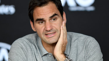 Roger Federer speaks about his semi-final loss to Novak Djokovic.