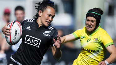 Left for dead: The Aussie women ran out of puff against arch-rivals New Zealand at Langford in Canada last month.