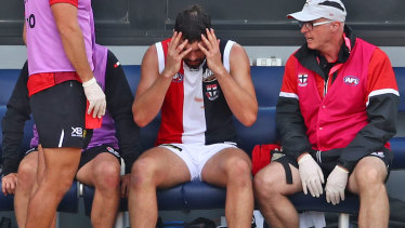 St Kilda player Paddy McCartin has a history of concussion.