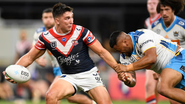 Victory Radley was brilliant as the Roosters just held on for victory over the Titans.