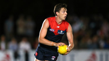 Final countdown: Jake Lever is looking ahead to the Demons round 10 meeting with the Crows in Alice Springs.