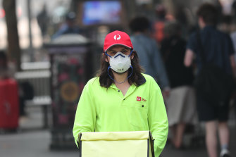 Posties were also told to wear masks while they worked outside.