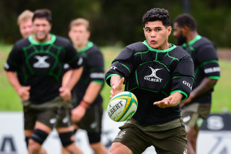 Noah Lolesio debuted for the Wallabies in 2020.