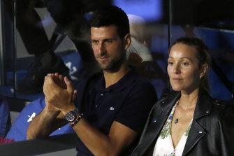 Novak Djokovic and his wife Jelena have both returned negative tests.