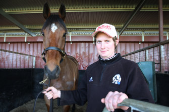 Jarrod McLean and his horse Cats Fun in 2009.