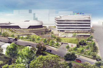 An artist's impression of The New Heart of Ryde development. The proposal split the local council.