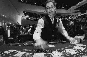 Crown Casino croupier Karen Elmsly, 1994.