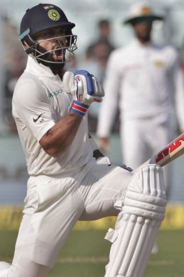 Peerless: Finding a chink in Virat Kohli's armour will be a huge challenge for Australia.