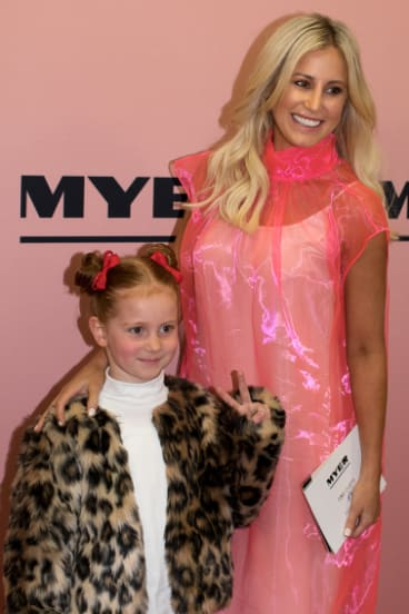 Roxy Jacenko and her daughter Pixie Curtis at the Myer show on Thursday, August 23, 2018.