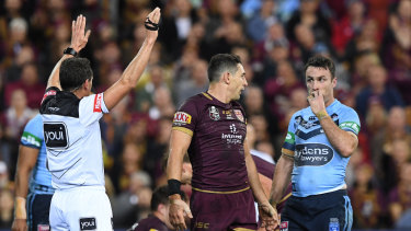 Big decision: James Maloney is sin-binned.
