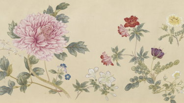 Wang Chengpei's Spring fortune collected in a brocade (detail) from the Qing dynasty 1644–1911.